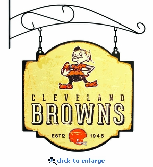 Cleveland Browns 16 X 16 Metal Tavern / Pub Sign