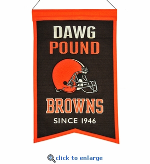 Cleveland Browns Franchise Wool Banner (14 x 22)