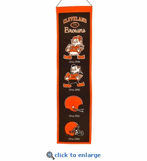 Cleveland Browns Heritage Wool Banner (8 x 32)