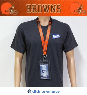Cleveland Browns Lanyard Key Chain Bottle Opener and Ticket Holder