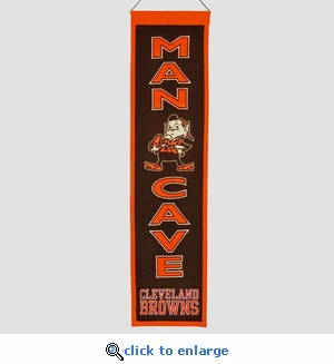 Cleveland Browns Man Cave Wool Banner (8 x 32)