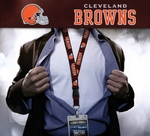 Cleveland Browns NFL Lanyard Key Chain Ticket Holder - Brown