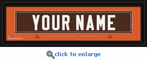 Cleveland Browns Personalized Stitched Jersey Nameplate Framed Print