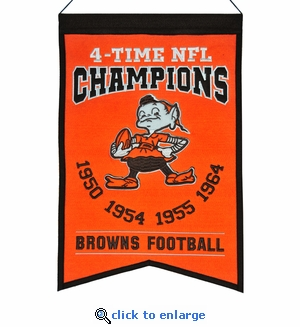 Cleveland Browns Super Bowl Champions Wool Banner (14 x 22)