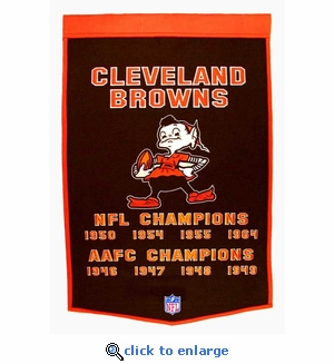 Cleveland Browns Super Bowl Dynasty Wool Banner (24 x 36)