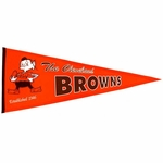Cleveland Browns Throwback Wool Pennant (13 x 32)