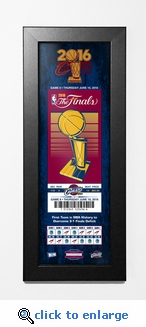 Cleveland Cavaliers 2016 NBA Champions Framed Ticket Print
