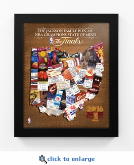 Cleveland Cavaliers 2016 NBA Champions Personalized State of Mind Framed Print - Ohio