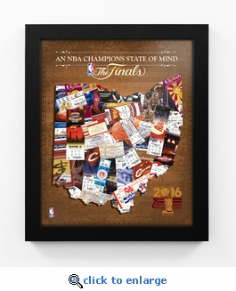 Cleveland Cavaliers 2016 NBA Champions State of Mind Framed Print - Ohio