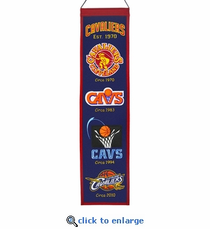Cleveland Cavaliers Heritage Wool Banner (8 x 32)