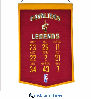 Cleveland Cavaliers Legends Wool Banner  (14 x 22)