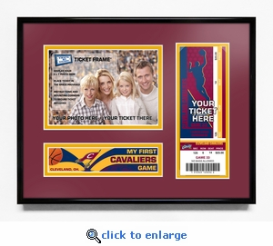 Cleveland Cavaliers My First Game 5x7 Photo Ticket Frame