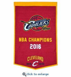 Cleveland Cavaliers NBA Champions Dynasty Wool Banner (24 x 36)
