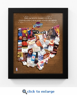 Cleveland Cavaliers Personalized State of Mind Framed Print - Ohio