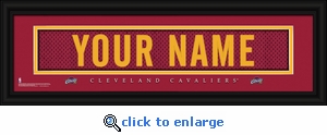 Cleveland Cavaliers Personalized Stitched Jersey Nameplate Framed Print