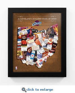 Cleveland Cavaliers State of Mind Framed Print - Ohio