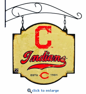 Cleveland Indians 16 X 16 Metal Tavern / Pub Sign