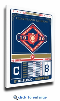 Cleveland Indians 1920 World Series Champions Canvas Print