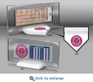 Cleveland Indians 22 Consecutive Wins Commemorative Ticket Stand
