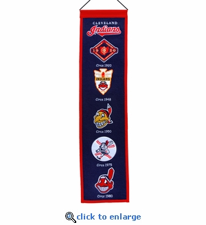 Cleveland Indians Heritage Wool Banner (8 x 32)