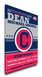 Cleveland Indians Personalized Canvas Birth Announcement - Baby Gift