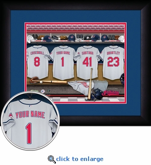 Cleveland Indians Personalized Locker Room Print
