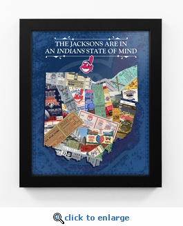 Cleveland Indians Personalized State of Mind Framed Print - Ohio