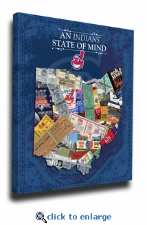 Cleveland Indians State of Mind Canvas Print - Ohio