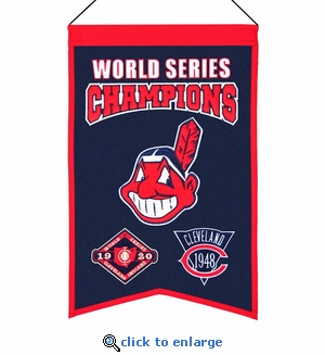 Cleveland Indians World Series Champions Wool Banner (14 x 22)