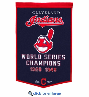 Cleveland Indians World Series Dynasty Wool Banner (24 x 36)