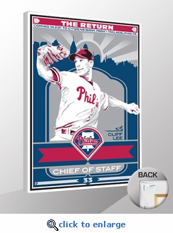 Cliff Lee Sports Propaganda Canvas Print - Phillies