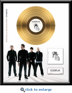 Coldplay - A Rush of Blood To The Head Framed Gold Record, LE 2,500