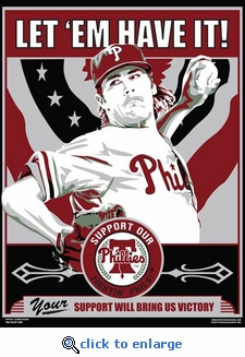 Cole Hamels Sports Propaganda Poster - Philadelphia Phillies