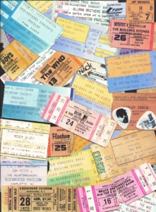 Collecting Concert Tickets & Ticket Stubs