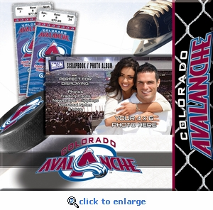 Colorado Avalanche 8x8 Scrapbook - Ticket & Photo Album