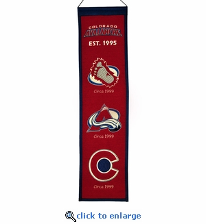 Colorado Avalanche Heritage Wool Banner (8 x 32)