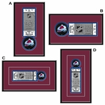 Colorado Avalanche Single Ticket Frame