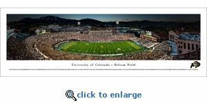 Colorado Buffaloes Football - 50 Yard Line - Panoramic Photo (13.5 x 40)