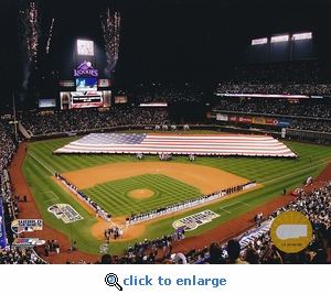Colorado Rockies 2007 World Series Game 3 Opening Ceremony 8x10 Photo