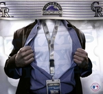Colorado Rockies MLB Lanyard Key Chain and Ticket Holder