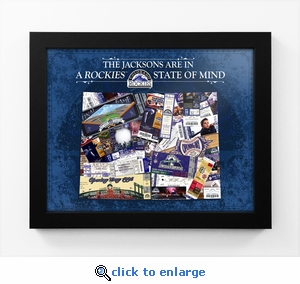 Colorado Rockies Personalized State of Mind Framed Print