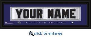 Colorado Rockies Personalized Stitched Jersey Nameplate Framed Print
