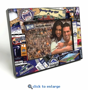 Colorado Rockies Ticket Collage Black Wood Edge 4x6 inch Picture Frame