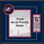 Columbus Blue Jackets 8x10 Photo Ticket Frame