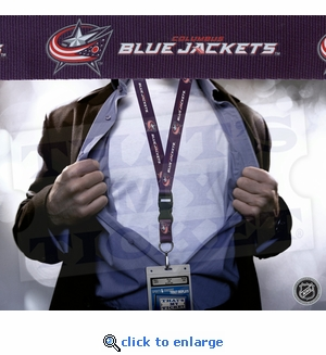 Columbus Blue Jackets NHL Lanyard Key Chain with Ticket Holder