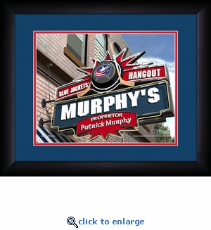 Columbus Blue Jackets Personalized Sports Room / Pub Print