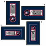 Columbus Blue Jackets Single Ticket Frame