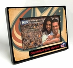 Columbus Blue Jackets Vintage Style Black Wood Edge 4x6 inch Picture Frame