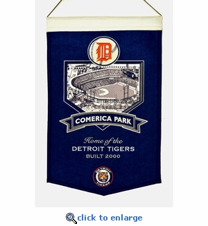 Comerica Park Wool Banner (20 x 15) - Detroit Tigers
