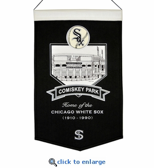 Comisky Park Wool Banner (20 x 15) - Chicago White Sox